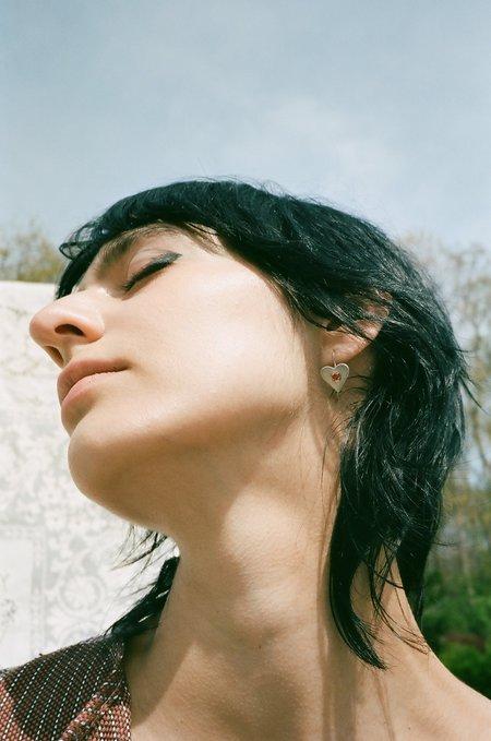 Mondo Mondo Sweetheart Earrings - Silver