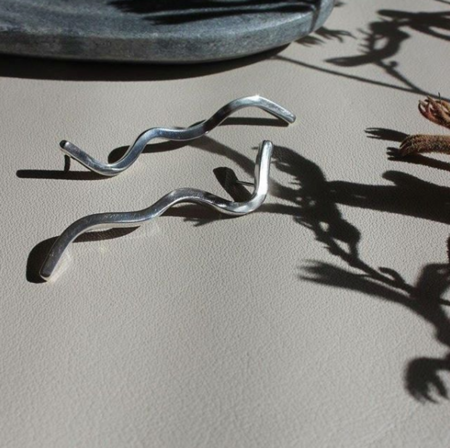 EMBR Jewellery Figure Earrings - Sterling silver