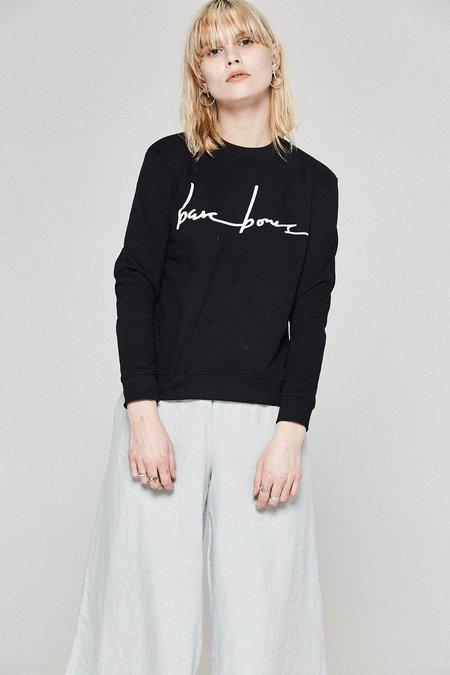 Bare Bones Logo Sweater - Black