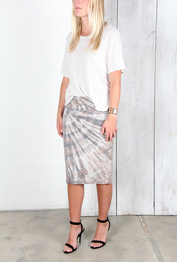 THE NARWHAL DOUBLE LAYER SKIRT IN SMOKE TIE DYE