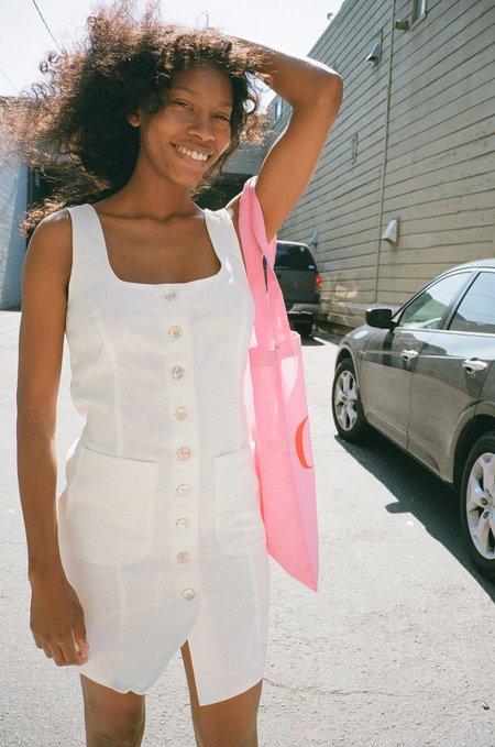 Lisa Says Gah Rosa Linen Dress - White