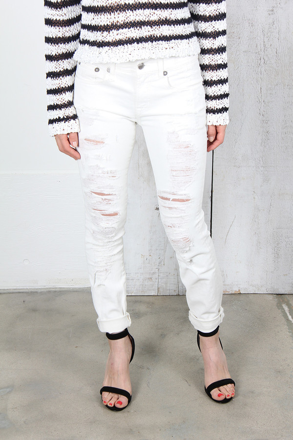 R13 THE RELAXED SKINNY JEANS