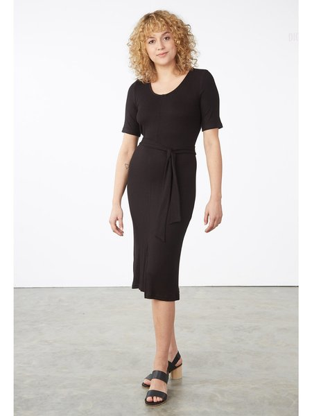 Eve Gravel Terracotta Dress - black