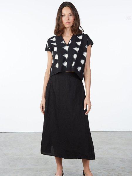 Ali Golden Wrap Skirt - black