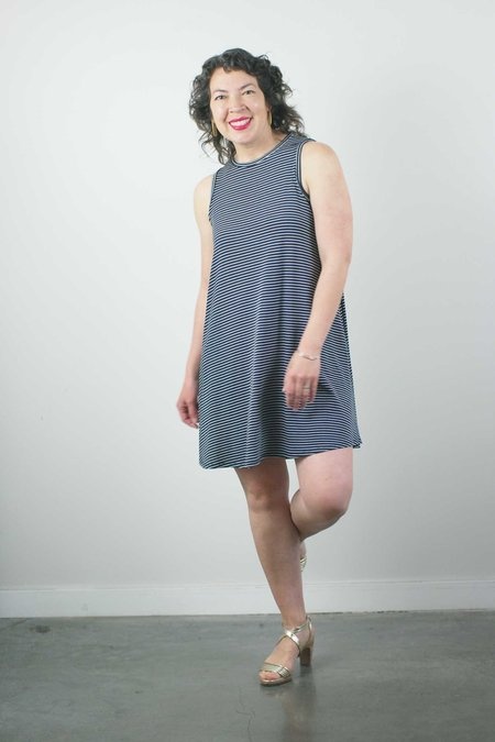 Sarah Liller Josie Dress - Navy Stripe