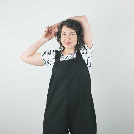 Lu. The New World Jumpsuit No. 2 - Black Linen