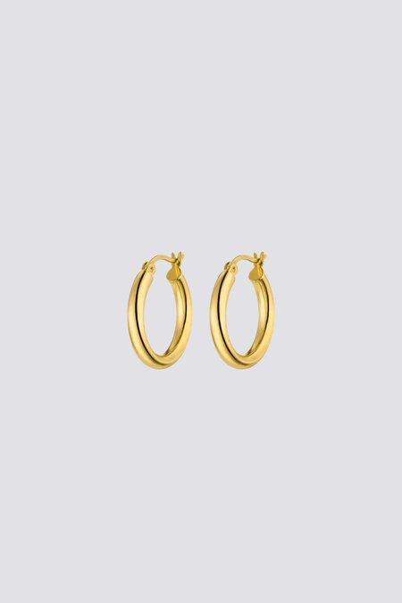 Nina Kastens Medium Hoops - Gold