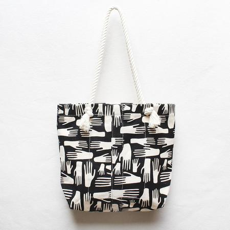 Julia Canright Hands Rope Strap Tote - Block Print