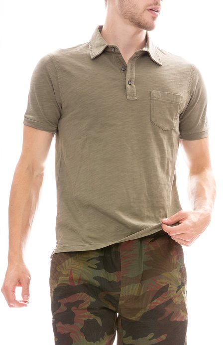 Alex Mill Rugby Polo - Military Green