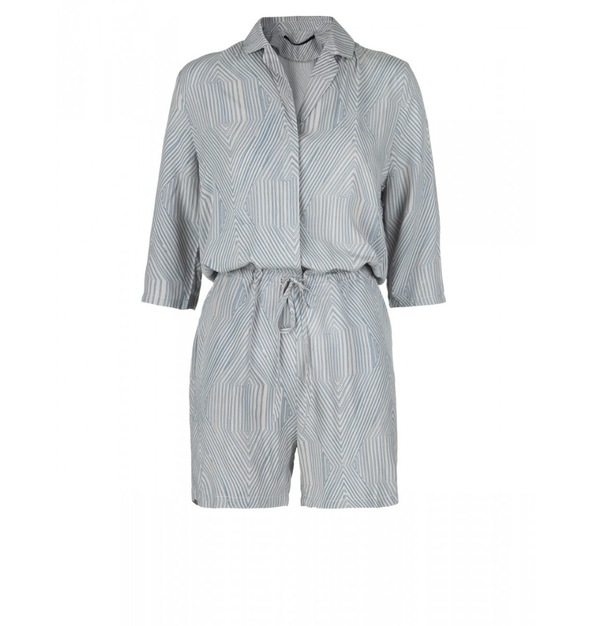 Just Female Hector Playsuit Blue/White