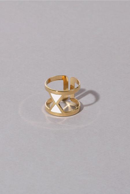 Anne Thomas Vega Adjustable Ring - White