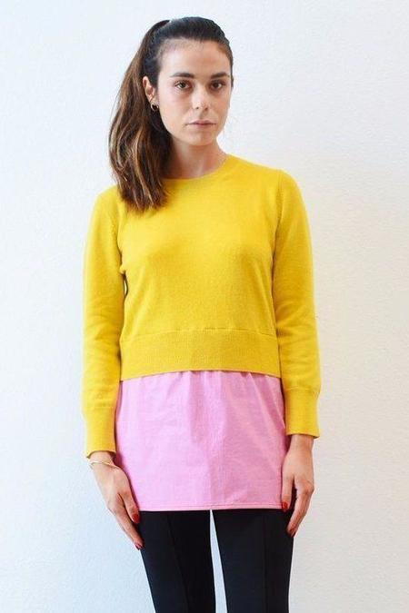 Marni Mid Sleeve Crew Neck Sweater - Sun