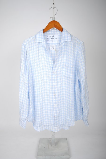 Frank & Eileen The Eileen Shirt - SMALL BLUE PLAID