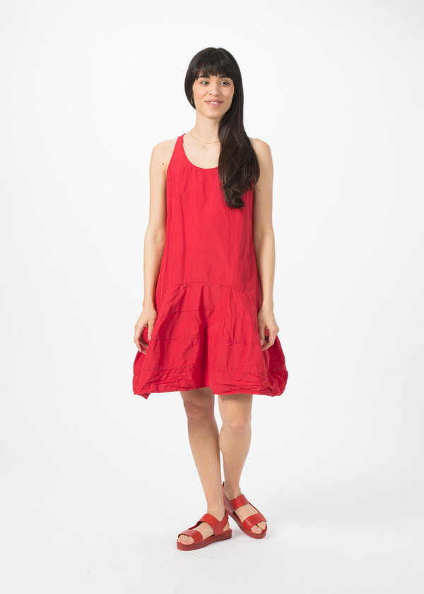 Rundholz BL Sleeveless Flare Dress - Strawberry