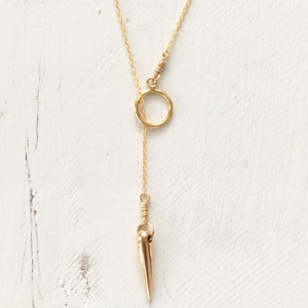 Flora Ciccarelli Collier Lariat Spike 215 206 Necklace - Gold