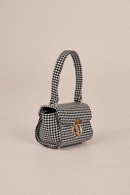 Jaggar Mini Houndstooth Bag - Black