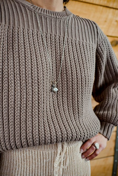 Feathered Souls Wishbone Necklace