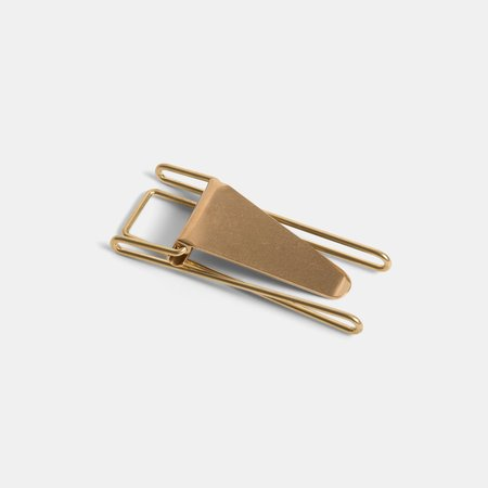 Candy Design & Works Hopper Japanese Money Clip - Double Brass