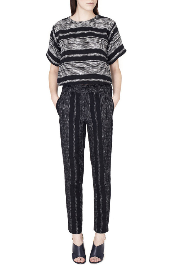 Apiece Apart Luca Pants Black Lezat Stripe