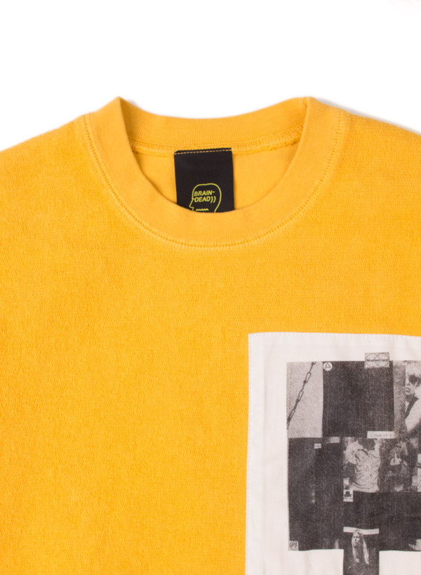 Men's Reverse French Terry Crew Yellow