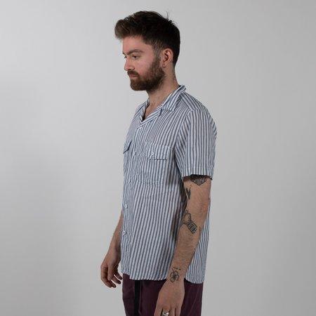 August Fifteenth Detroit Shirt - Ticking Stripe Blue