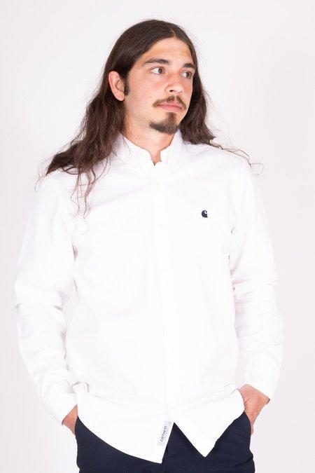 CARHARTT WIP Madison Long Sleeve Shirt - White