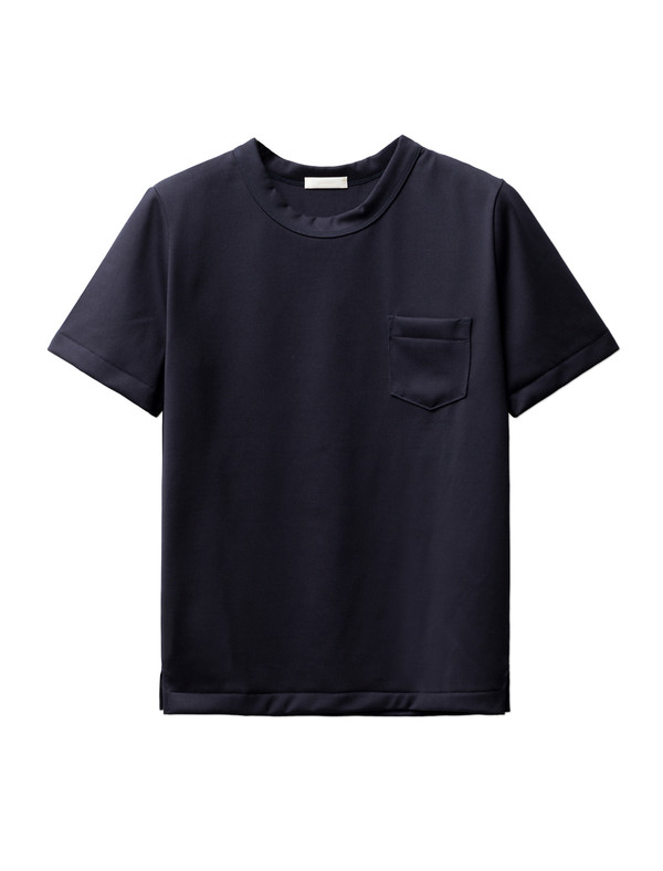 Niuhans Heavyweight Cotton Pocket Tee Navy