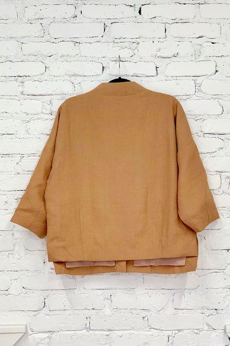 KAAREM Bo Bo Zipper Pocket Anorak - Brown Sand