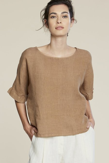 Filosofia Zoe Linen Top - Wheat