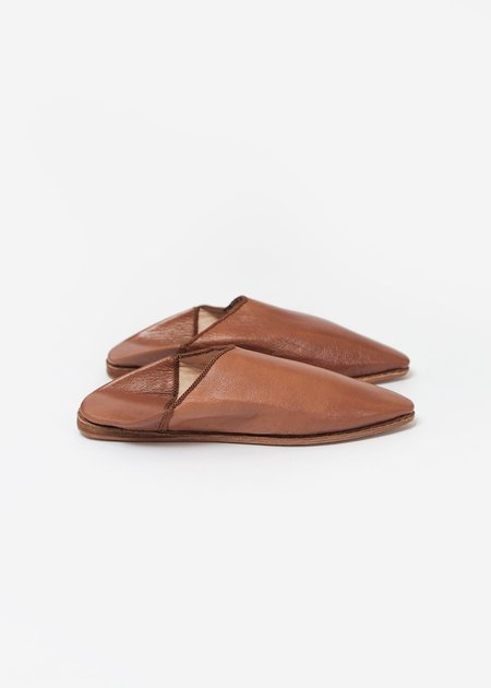 Bronze Age Massa Leather Glove Shoe - Camel