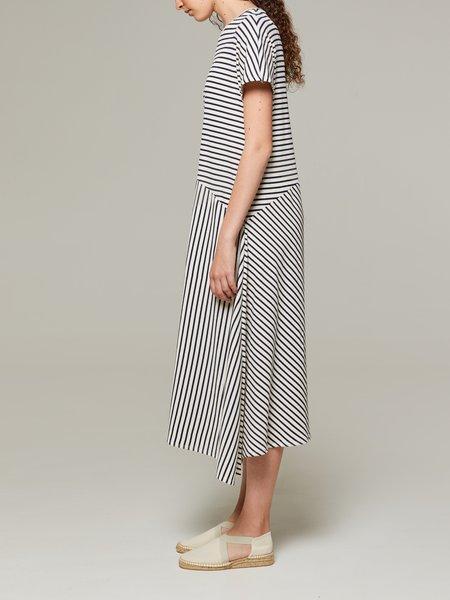 Rita Row Ambolo Striped Dress - White/Navy Stripes