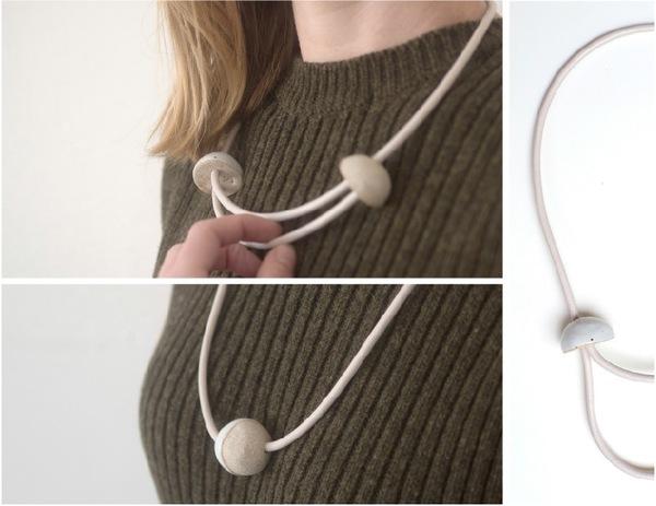 Jujumade sliced sphere necklace