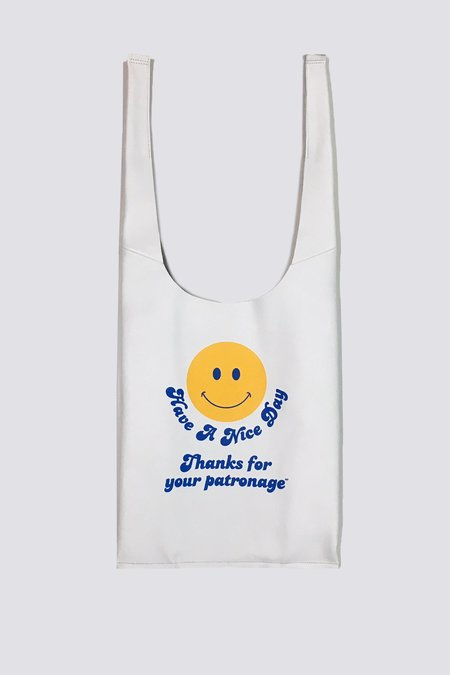 AW by Andrea Wong Smiley Face Gratitude Grocery Bag