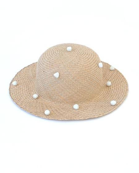 Jujumade polka dot sun hat