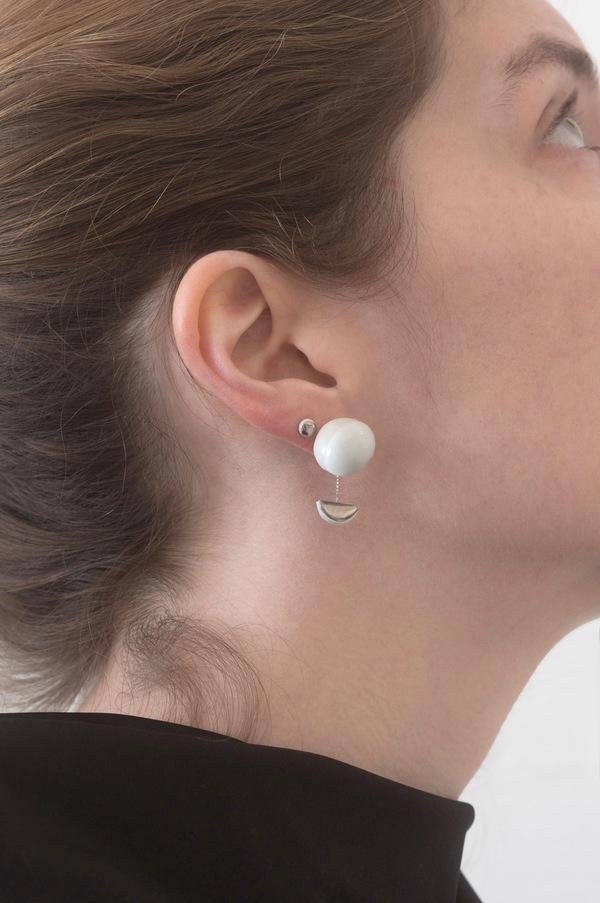 Jujumade pendant gumball earring