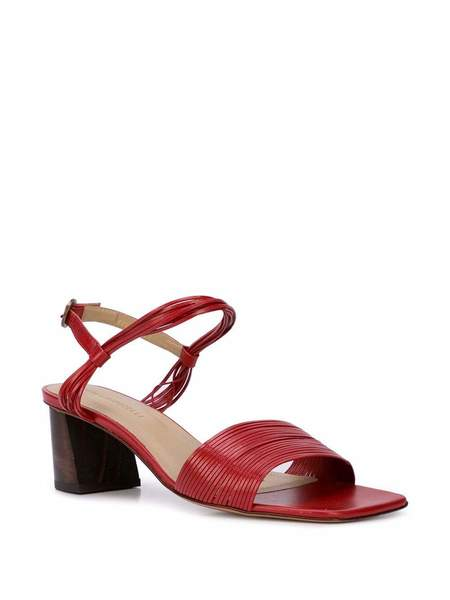 Mari Giudicelli Vitta Ankle Strap Sandal W/ Block Heel