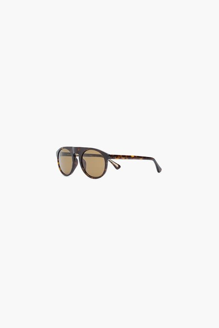 Dries Van Noten x Linda Farrow 91 C5 Flat Top Sunglasses - Horn
