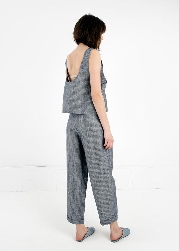 Study NY Grey Stripe Hollywood Pant