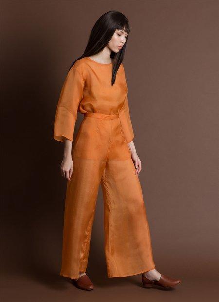 646e8f0ac1 ... KAAREM Song Tu Wide Leg Organza Silk Pant - Orange