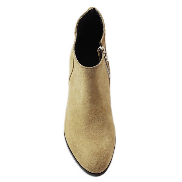 Cartel Footwear Bootie - Clara Beige Suede