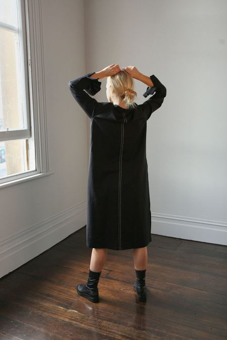 Mina Ulla Shirt Dress - black