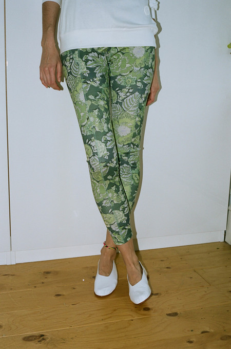 Suzanne Rae Athletic Legging - Green Floral