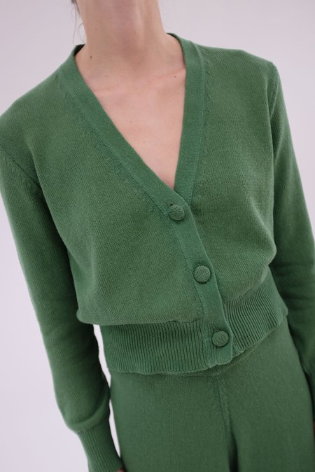 Beklina Cotton Knit Cardigan - Cypress