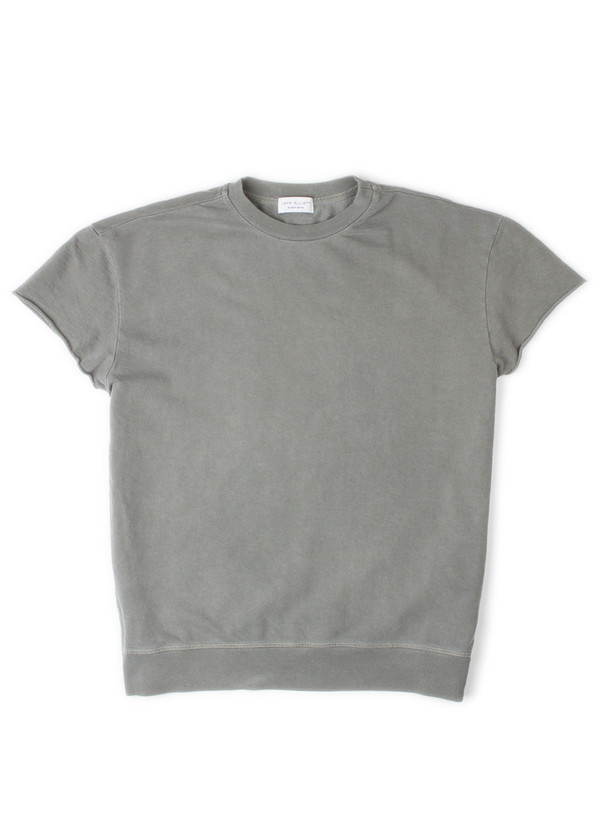 Men's John Elliott Oversized SS Crew Sweatshirt Olive