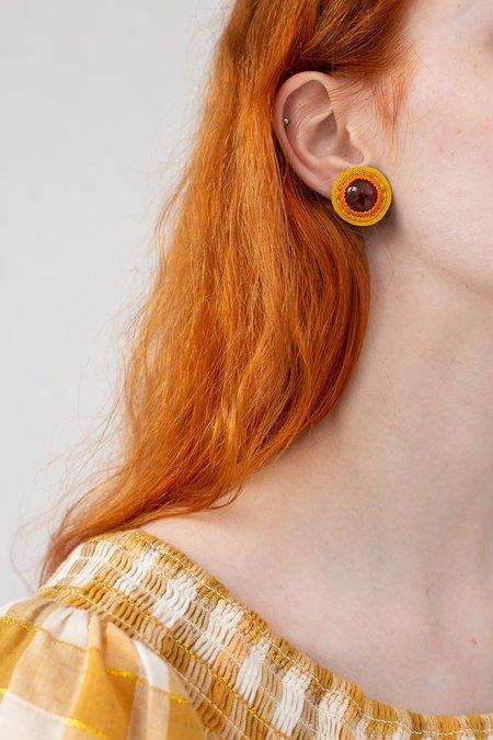 Robin Mollicone Button Earrings