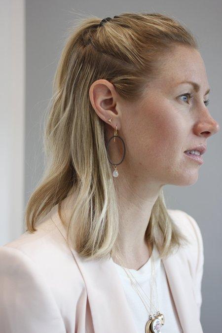 Margery Hirschey Mismatch Silver Earrings