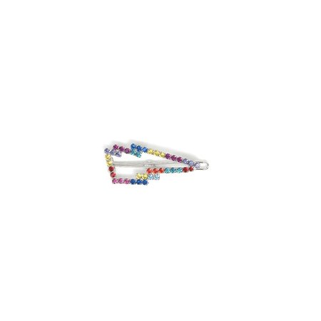 Joomi Lim Lightning Bolt Hair Clip - Rhodium/Rainbow
