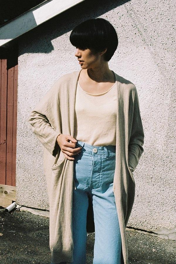 Lauren Manoogian Fine Wide Cardigan - avena
