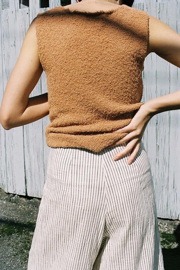 Caron Callahan Ellis Pant - black/cream stripe