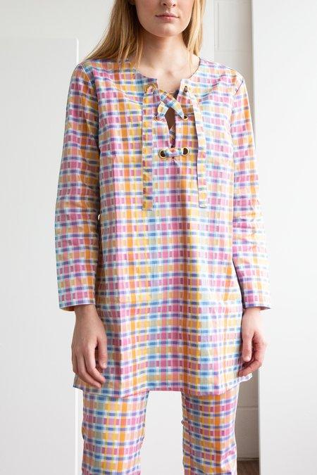 NC2 Paris Bright Check Tunic Dress